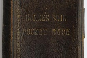 Pocketbook made from Burke's skin